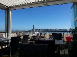 Vue depuis la terrasse du restaurant